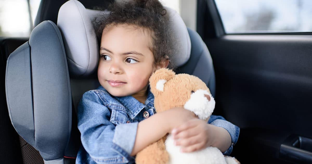 enfants malade en voiture